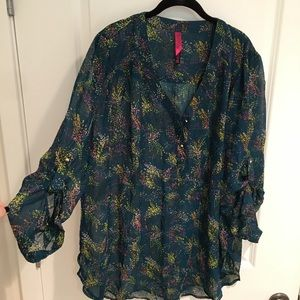 Pure Energy Tie-Belted Blouse